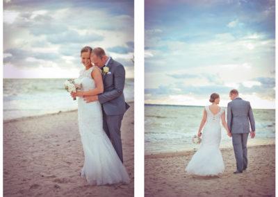 bröllopsfotografering på strand lysterart.com