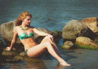 Modellfotografering bikini hav lysterart.com