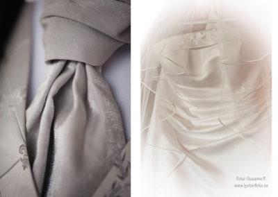 brud klänning och slips foto lysterart.com