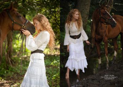 modellfotografering med häst lysterart.com